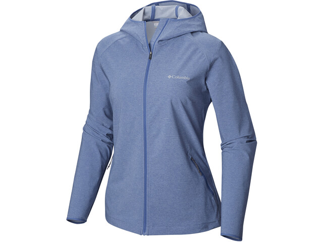 Columbia Heather Canyon Veste Softshell Femme, blue dusk heather